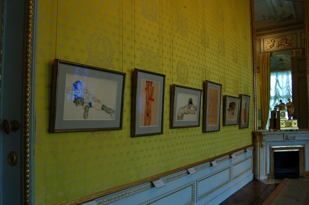 Egon Schiele's paintings in the royal apartments, Albertina