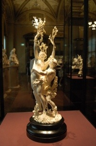 Ivory carving in Kunsthistoriches Museum Vienna