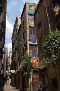 Narrow streets in Barri Gotic, Barcelona